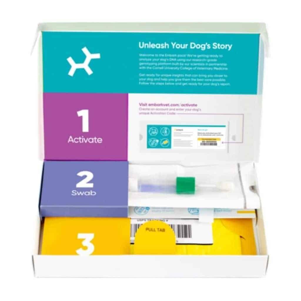 Embark DNA box kit.