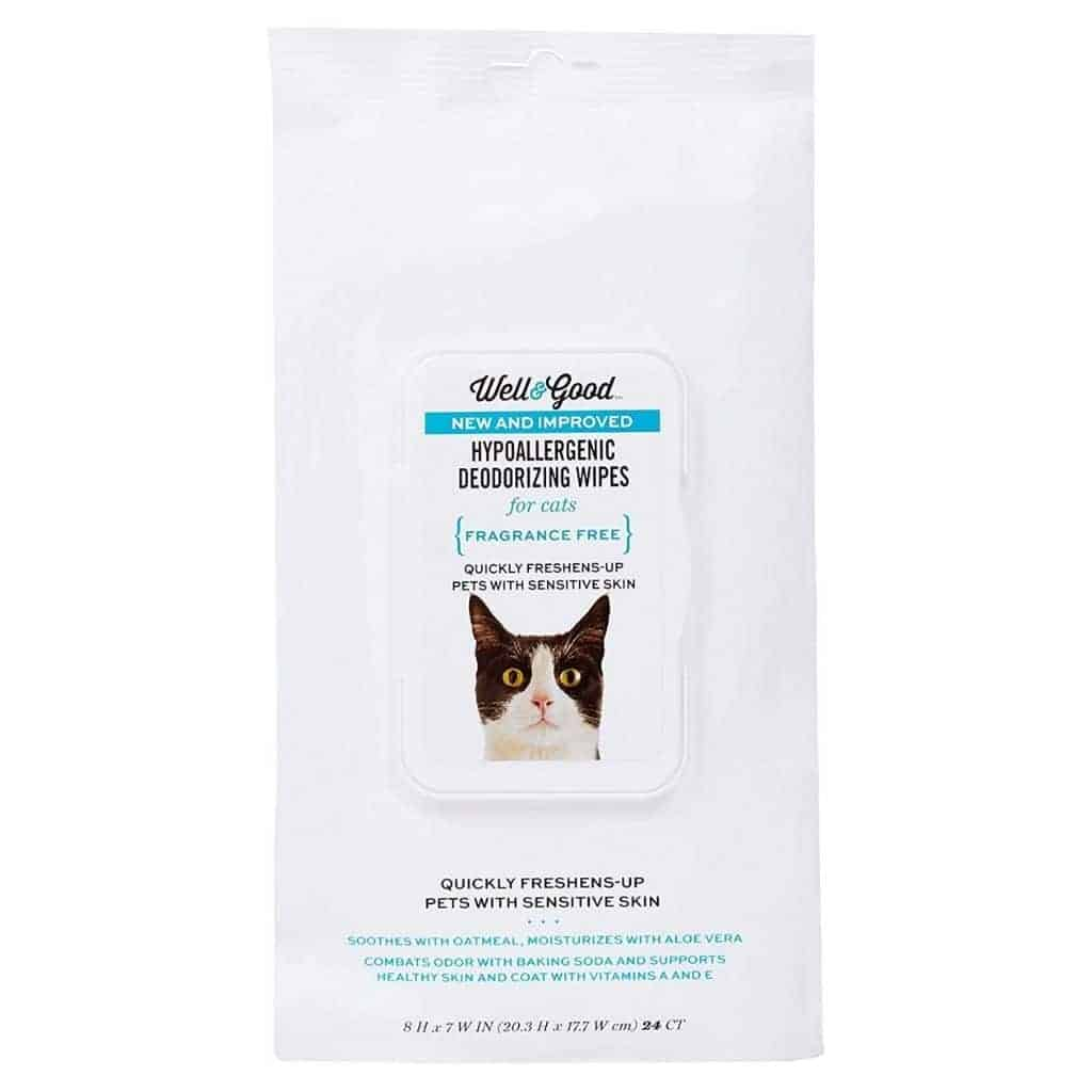 Pack of Well and Good cat wipes.