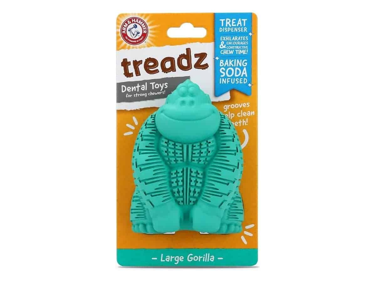 Gorilla dog teeth cleaning chew toy from Arm and Hammer.