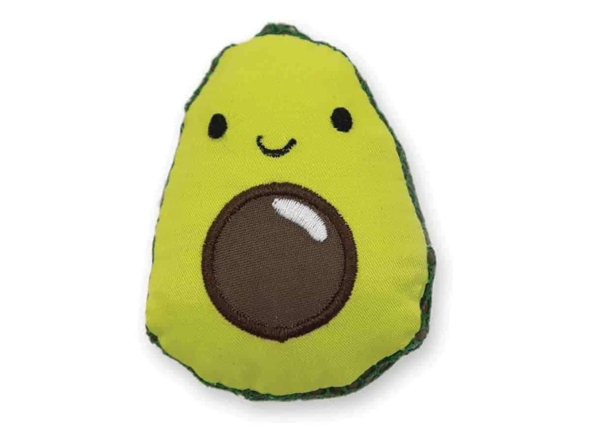 Avocado cat toy.