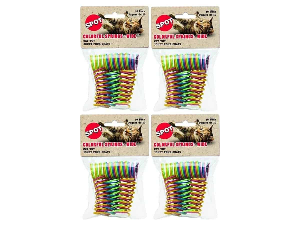 Four packs of cat toy springs.