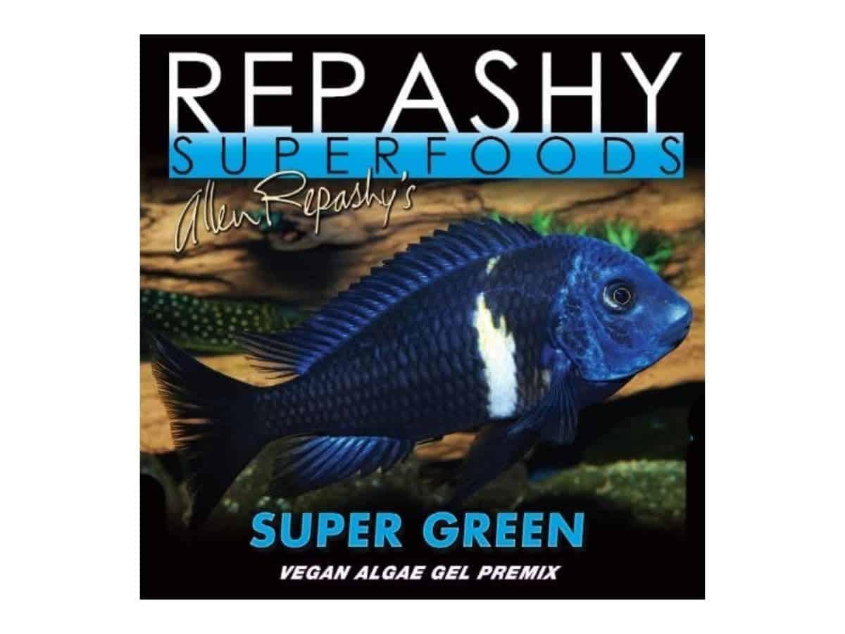 Repashy Super Green shrimp food packaging.